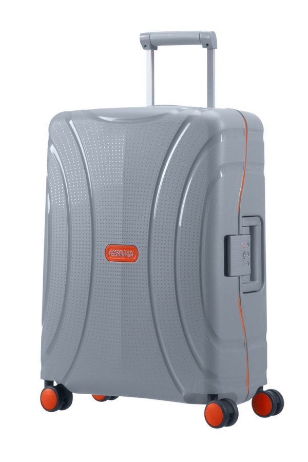 american-tourister-lock-n-roll-spinner-55cm-volt-grey